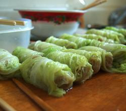 Bulgur-Stuffed Cabbage