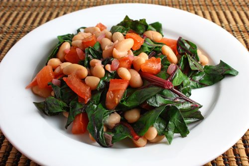 Swiss Chard With Tomatoes and Potatoes