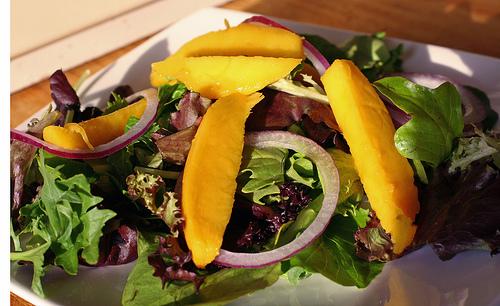 Summer Salad with Fresh Basil Dressing
