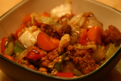 Sweet And Sour Tempeh And Vegetables