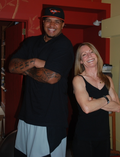 Marquis Pouncey with Pittsburgh Personal Trainer, JoAnn Brickley