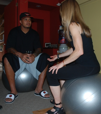 Marquis Pouncey with Pittsburgh Personal Trainer Joann Brickley