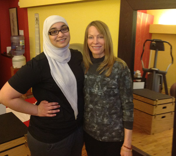 Ammara with JoAnn Brickley at Hydration Health and Fitness