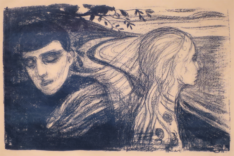Separation II by Edvard Munch, 1896, lithograph